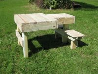 Side view of the double sided shooting bench I made last ...