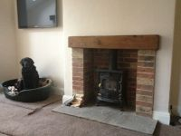 brick fireplaces wood burning stove - Google Search ...