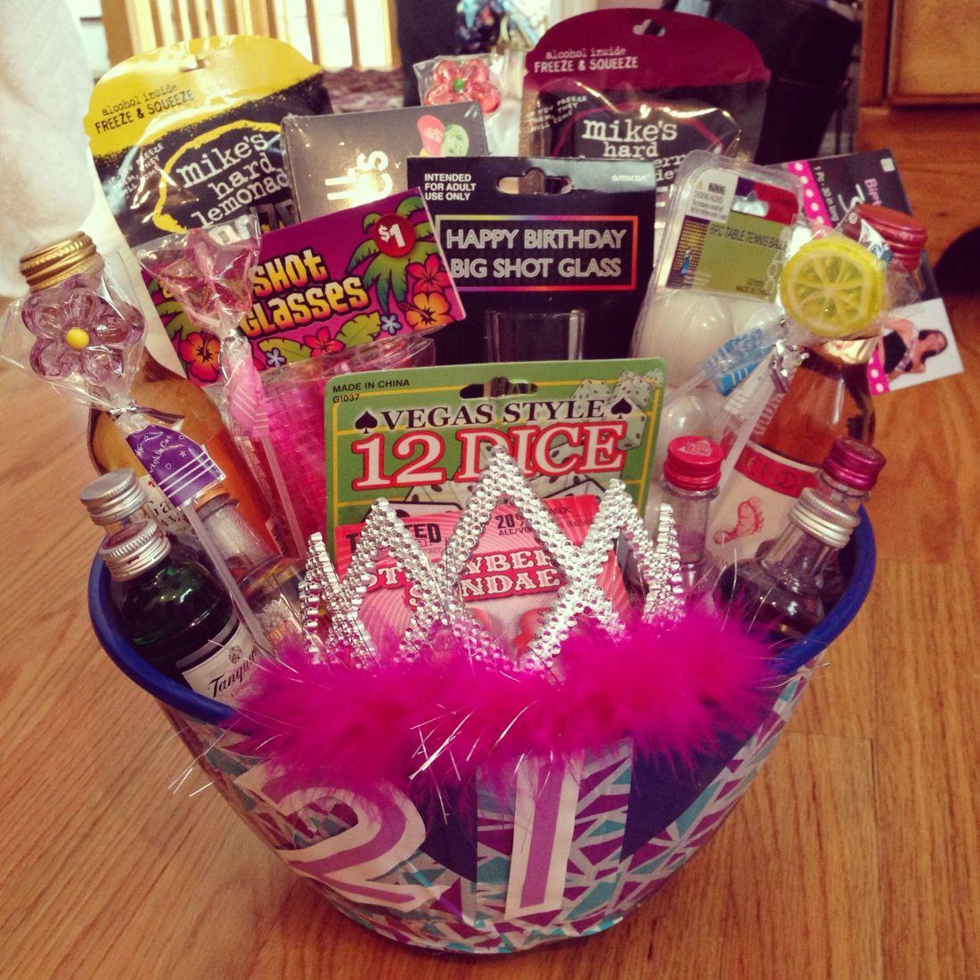 21st birthday gift basket diy pinterest inspired