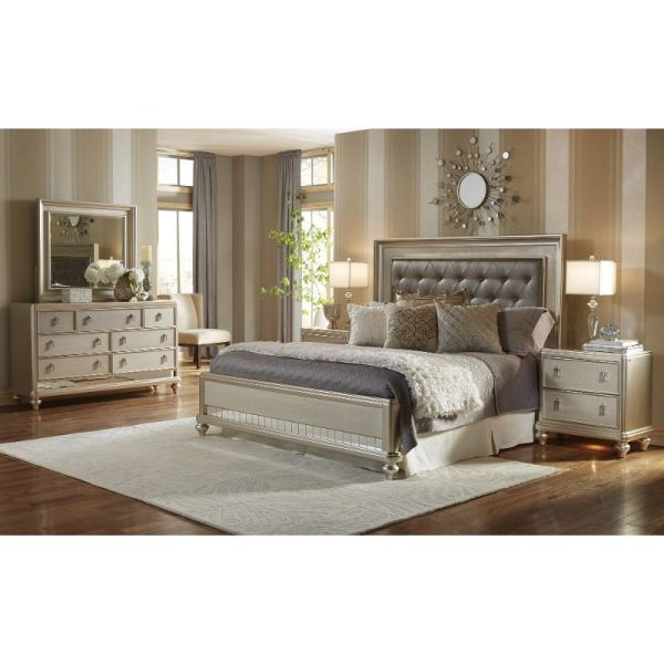 Diva Champagne 6-piece King Bedroom Set - Rc Willey Home