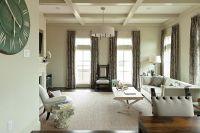 The living room has 10-foot ceilings, Oak hardwood floors ...