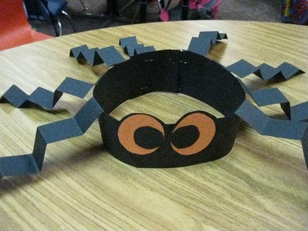 Kindergarten Halloween Crafts Spider Hats