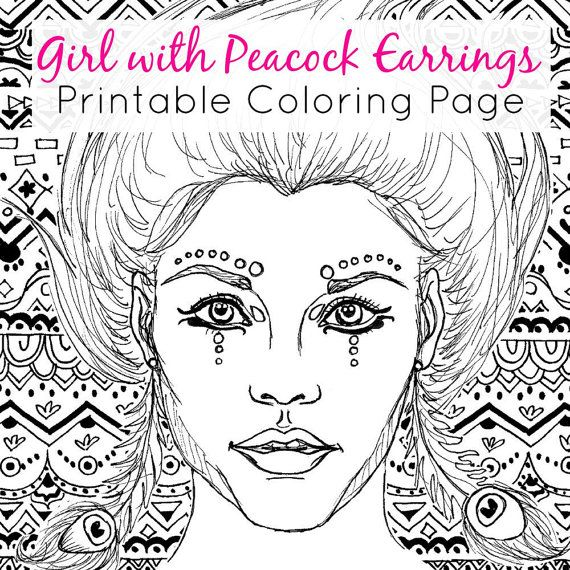 Girl With A Pearl Earring Page Coloring Pages