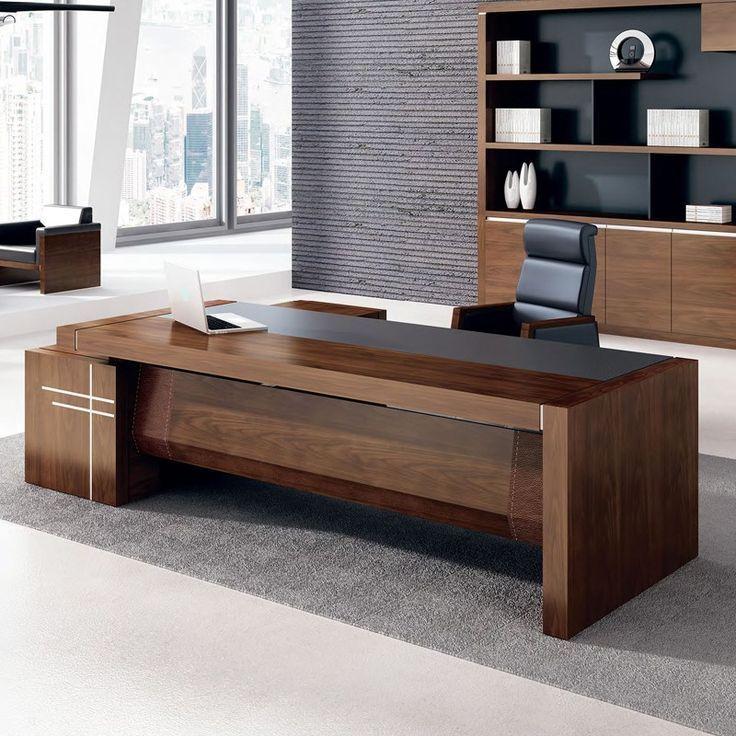 2017 Hot Sale Luxury Executive Office Desk Wooden Office