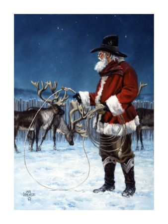 Cowboy Santa Makes Me Smile PAINTINGS Amp ART Pinterest