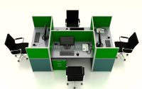 Modern Office Cubicles High Partition Modular Workstation ...