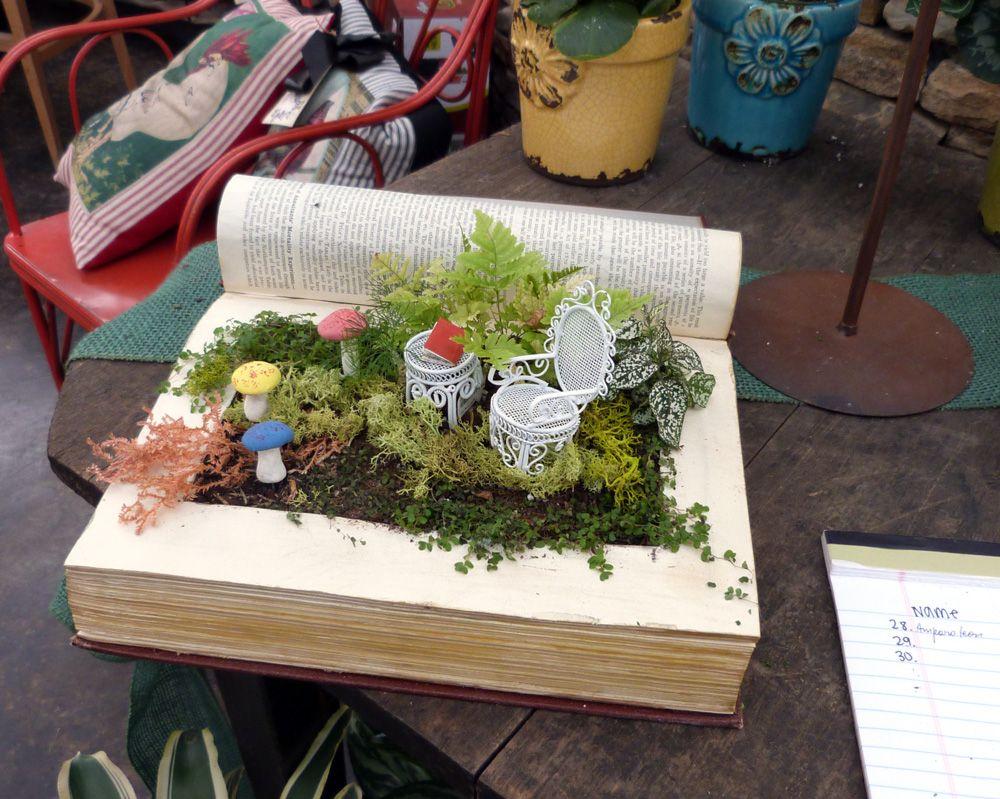 Pinterest Party Workshop Altered Fairy Garden Books Gardens