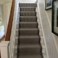 Pennells carpets ~ grey stair runner with chrome bars ...