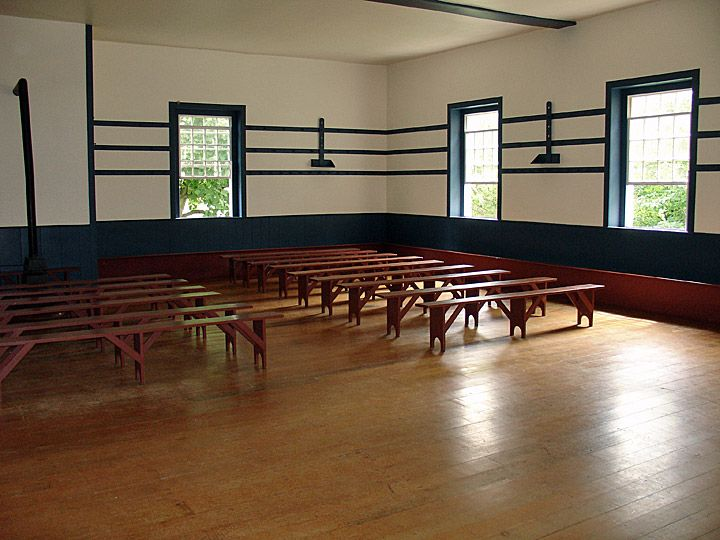 Interior Of The Meeting House Shaker Village At Pleasant Hill
