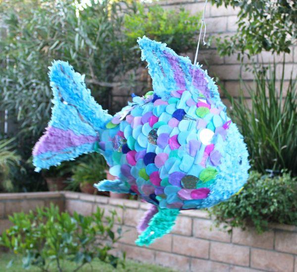 Rainbow Fish Pinata. Sad