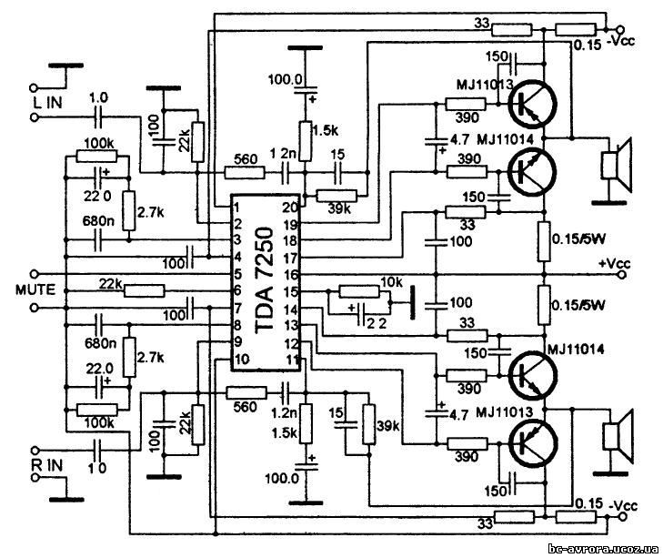 audio amplifier circuit board electronic design