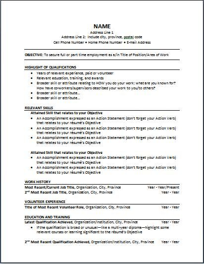 Functional Resume Sample Functional Resume Sample Are Examples