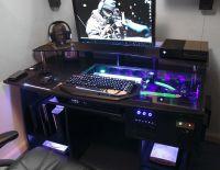 custom gaming computer desk | Personal Space | Pinterest ...