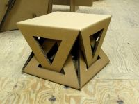 Cardboard table | Muebles de cartn / Cardboard furniture ...