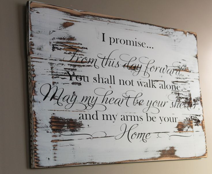 Rustic Wedding Vow Wood Sign, From This Day Forward