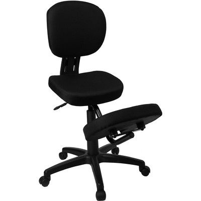 ergonomic chair kneeling review high back modern flash furniture mobile posture task in black fabric with reviews