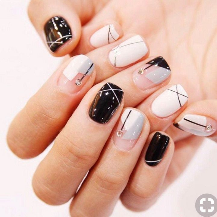 14 Geometric Nail Art Design ideas to try,triangle nail art, geometric nail  designs - Attractive Geometric Nail Art Design To Rock For Any Occasion 1