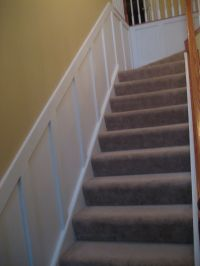 wainscoting going up the stairs