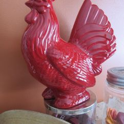 Rooster Statue For Kitchen Dish Soap Dispenser Red Love Him Decor Pinterest Hens