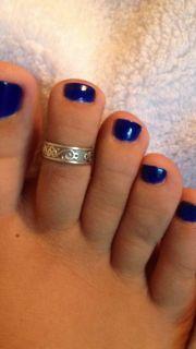 toes blue toenails toering cute