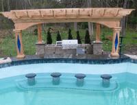 Gunite Pool with Swim Up Bar and Pergola/Outdoor Kitchen ...