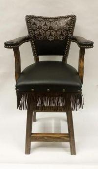 Swivel Bar Chair - Leather Bar Stools & Bar Seating ...