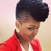 lovely cornrow mohawk african