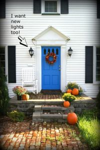 front door colors for white house with black shutters ...