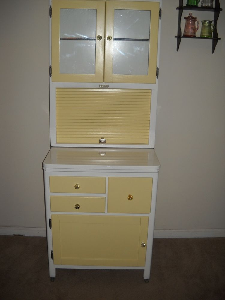 RARE 1930s  40s SELLERS Apartment Size Hoosier Kitchen Cabinet  25 12  Antique furniture