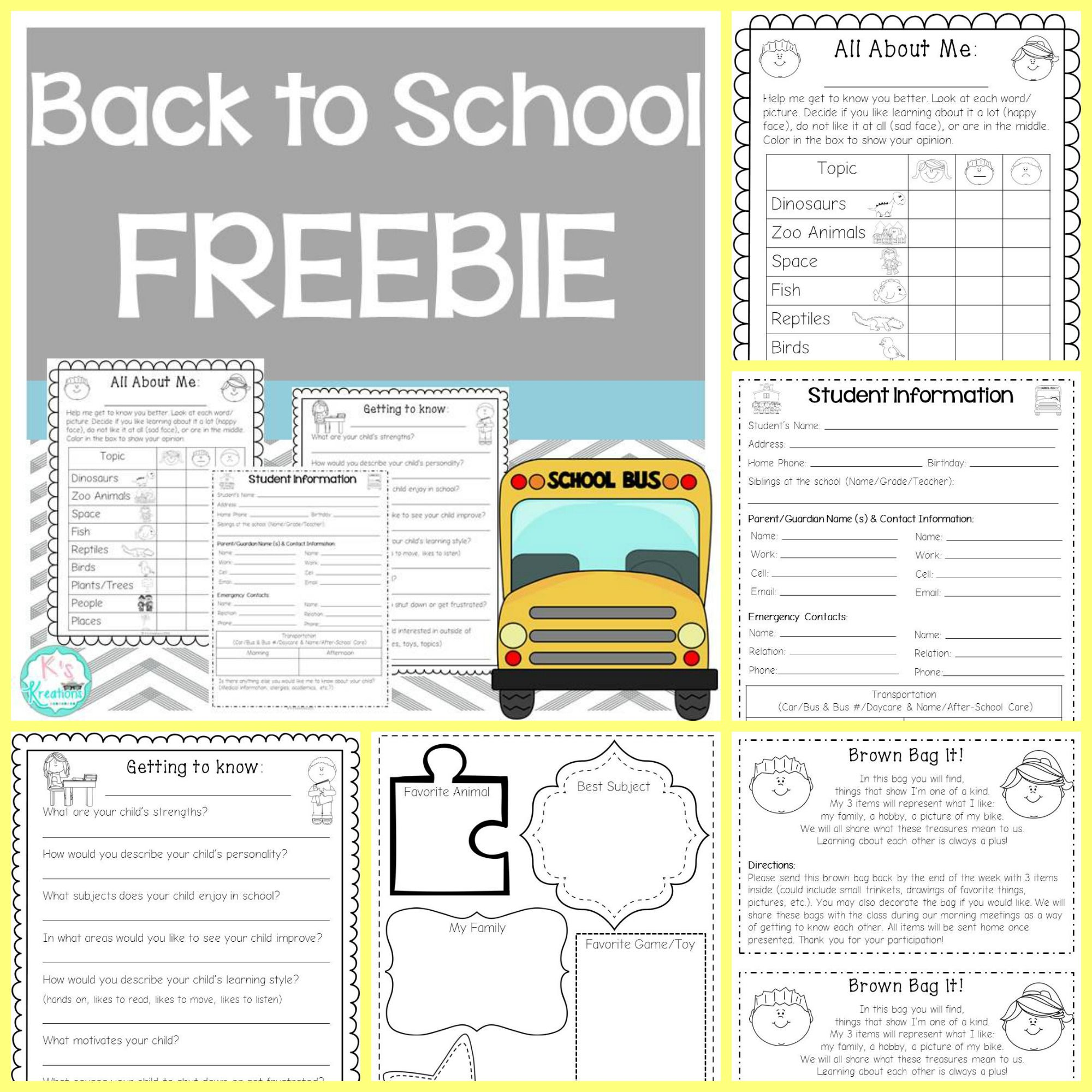 Freebie Get To Know Your Students With Parent Letters