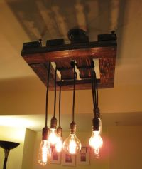 Edison Bulb Chandelier. Beautiful Rustic Wood Light ...
