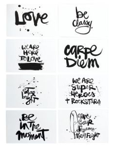 Set of eight notecards with inspiring motifs by artist kal barteski for deny designs product also rh pinterest