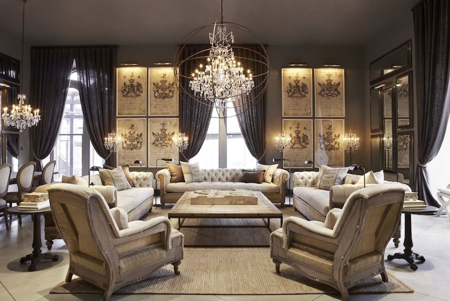 OMG love this look for a living room  Beautiful Living Room  Pinterest  Restoration hardware