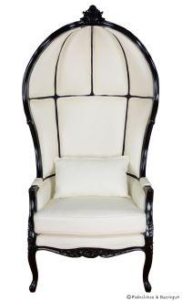 Victoire Balloon Chair - White & Black | Modern baroque ...