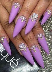 spring purple matte rhinestone
