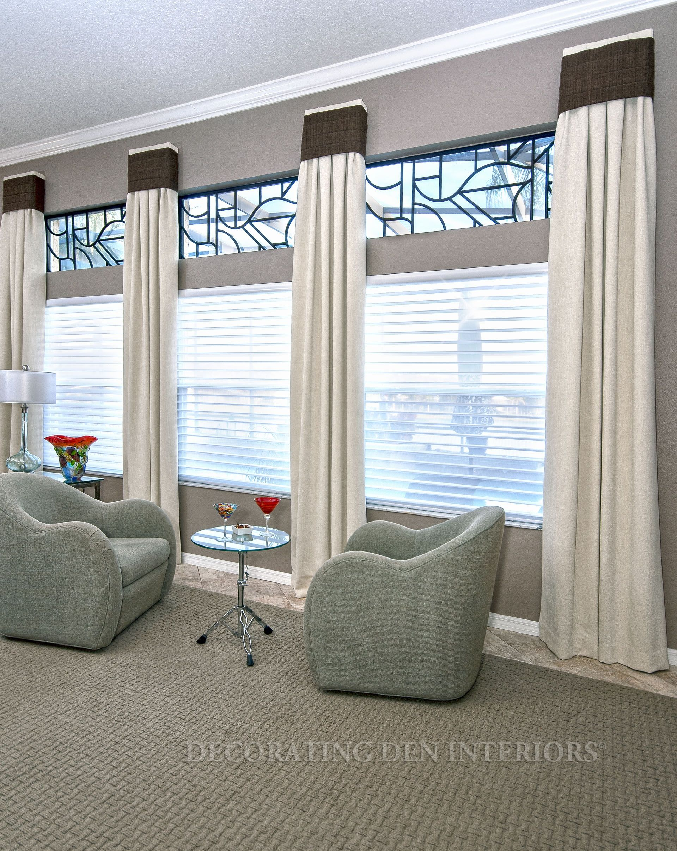 Custom Window Treatments  Designer Curtains Shades and