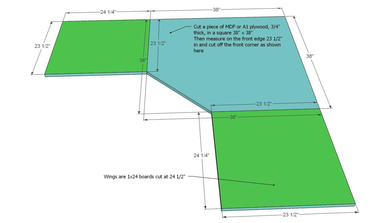 Build A Office Corner Desktop Plans