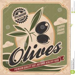 Vintage Posters For Kitchen Menu Board Retro Olive Poster Design Stock Photo Image 33025910