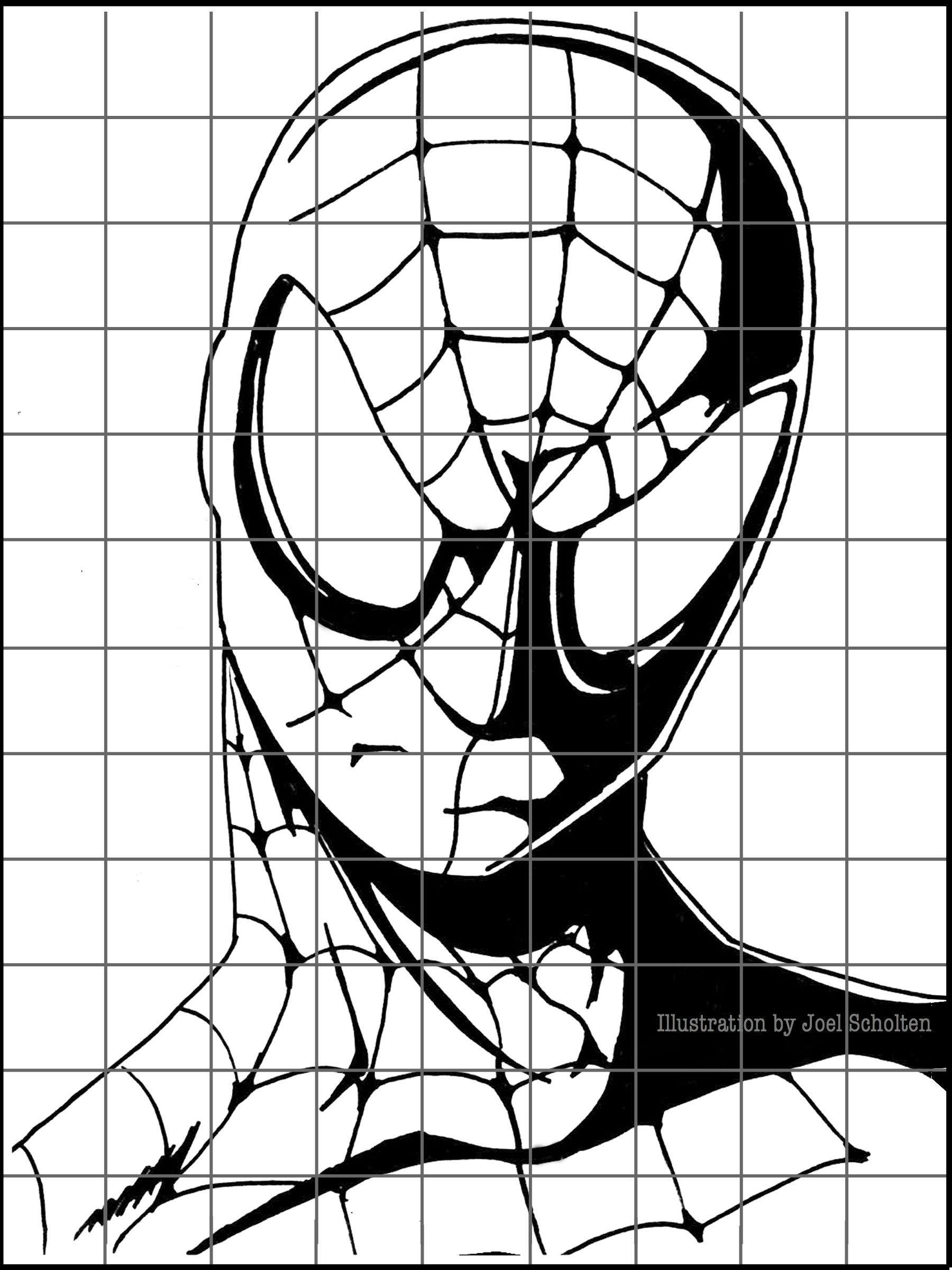 Drawing Superheroes Is A Great Way To Keep 6th Grade Students Interested In Grid Drawings The