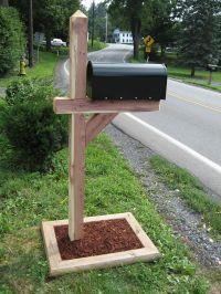 Cedar Post | Stuff to buy | Pinterest | Mailbox post ...