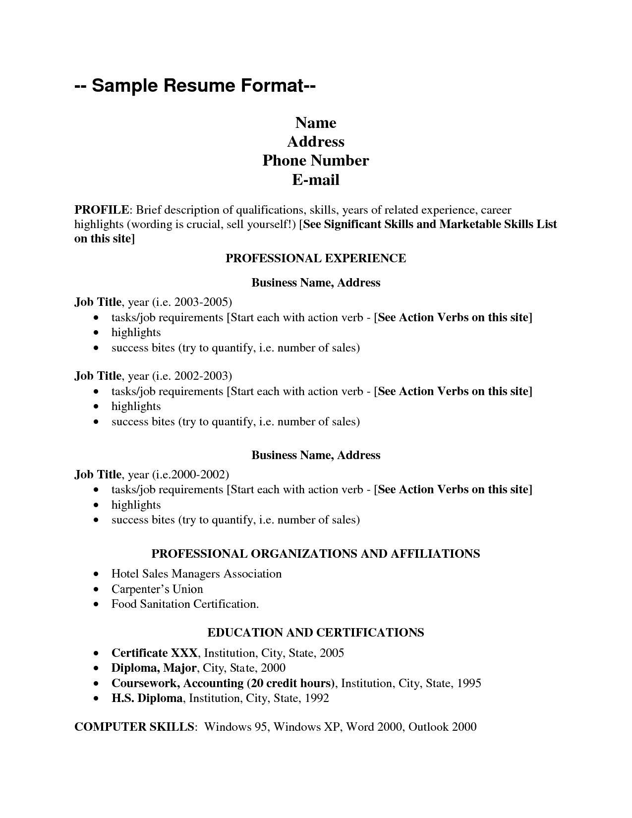 Skills List For Resume Resume Cover Letter Template Resume