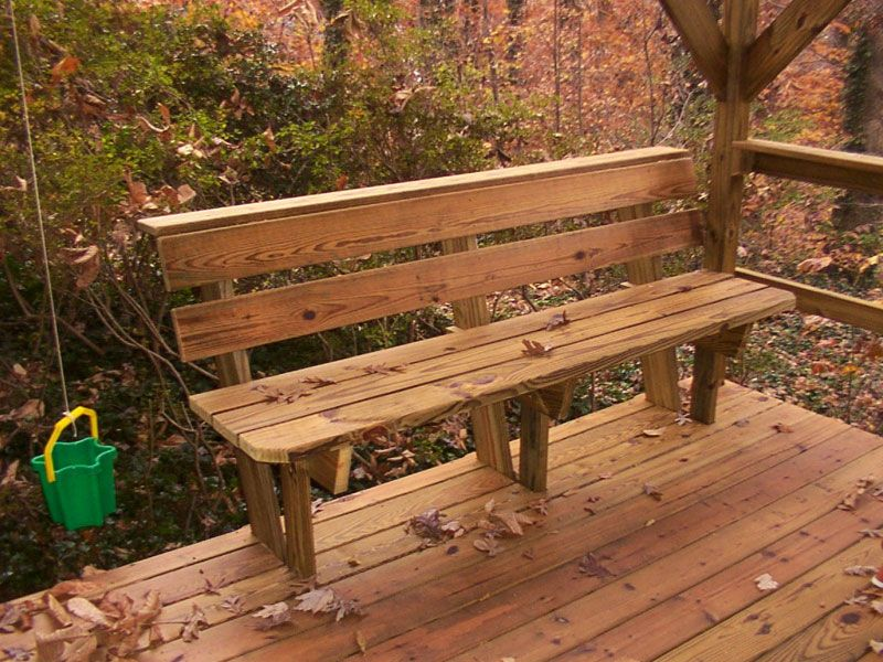 Deck Bench Design Plans Benches Amp Picnic Tables Photo
