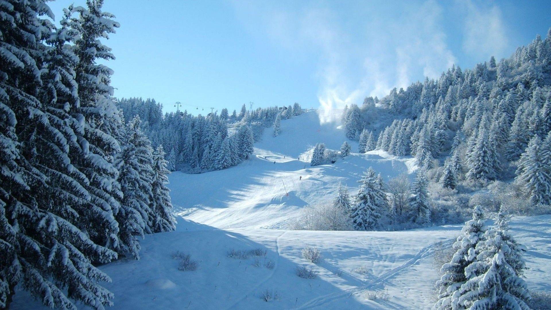 Snowy Mountain Winter Wallpaper HD1920 1080 Beautiful