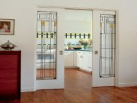 sliding pocket doors- stained glass- exactly what I want ...