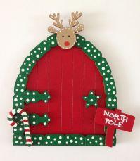 Elf Door - Beautiful Hand Painted Christmas Fairy Elf Door ...