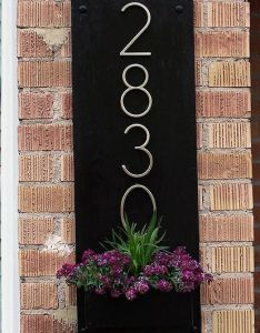 Diy address plaque planter box container gardening curb appeal woodworking projects also you might want to rethink your sign when see what these rh pinterest