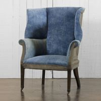 Hepplewhite Wing Chair - Chairs / Ottomans - RLH ...