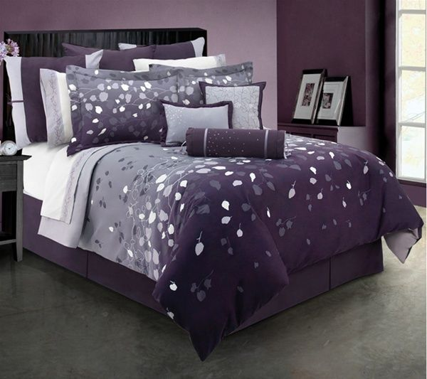 Purple Lavender and Gray Bedroom  Bedrooms  Pinterest