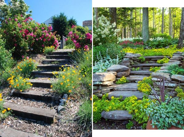 Landscaping Ideas Garden Stairs InteriorHolic Com Garden