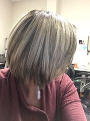 brown hair grey highlights silver